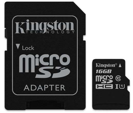 Kingston micro SD kártya, SD adapterrel. CL10. 16 GB