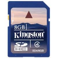 Kingston SD kártya. CL4. 8 GB